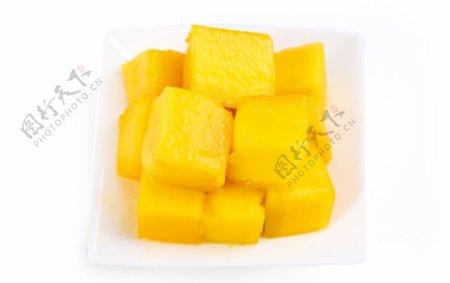 芒果肉白底素材