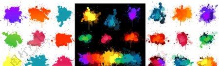彩色泼墨图标
