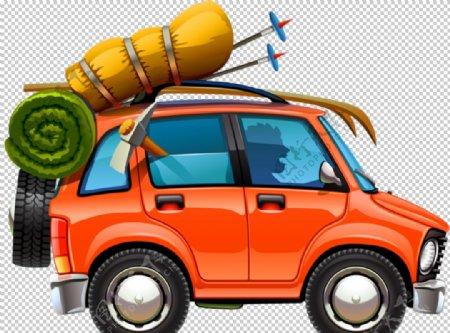 轿车户外旅游合成海报素材