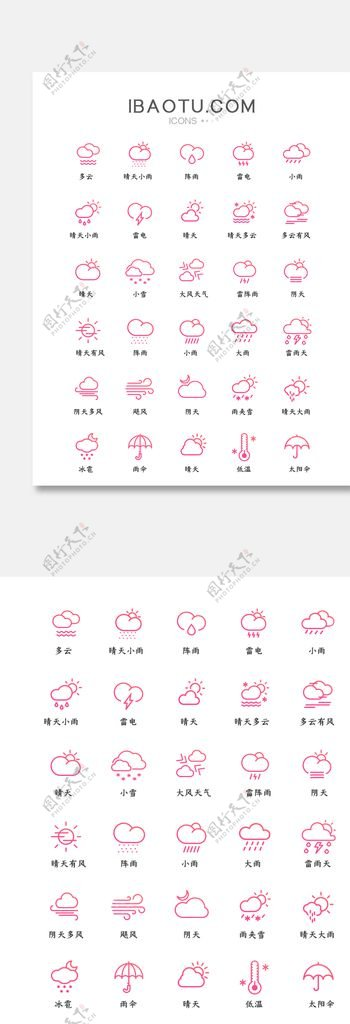 天气图标ui图标网页小图标