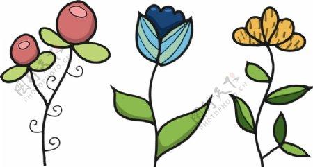 卡通植物花朵