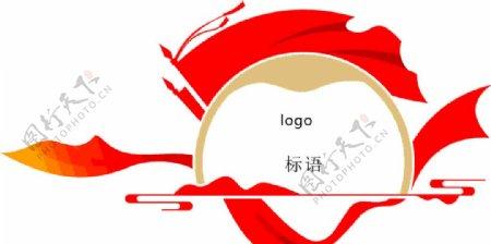 党建风logo