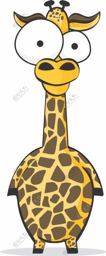 长颈鹿搞笑搞怪动物卡通大眼睛