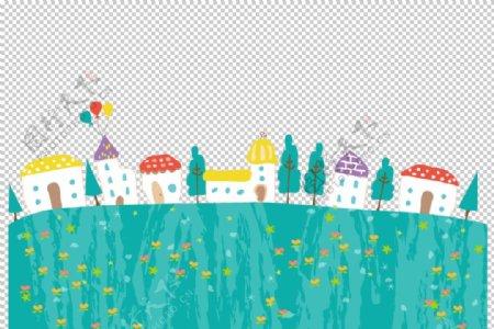 儿童插画封面背景素材