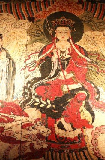 北京智化寺明代地藏王菩萨壁画