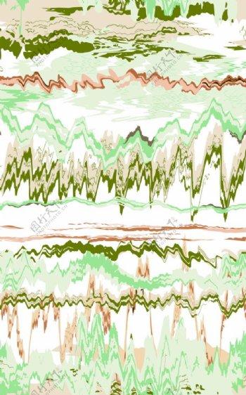 抽象山水云纹