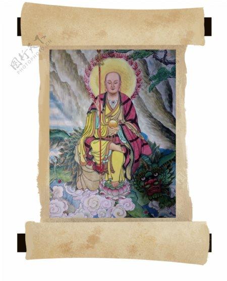 卷轴地藏王菩萨