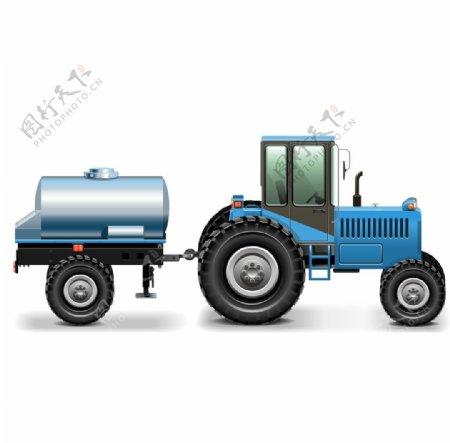拖拉机卡通标志图标海报素材