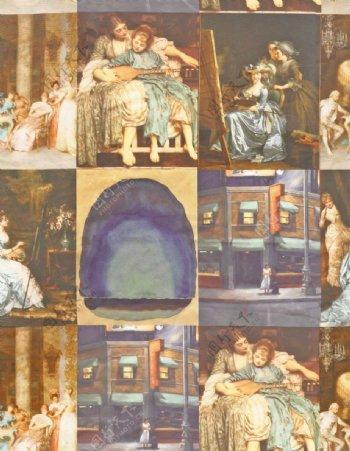油画欧美复古人像图片