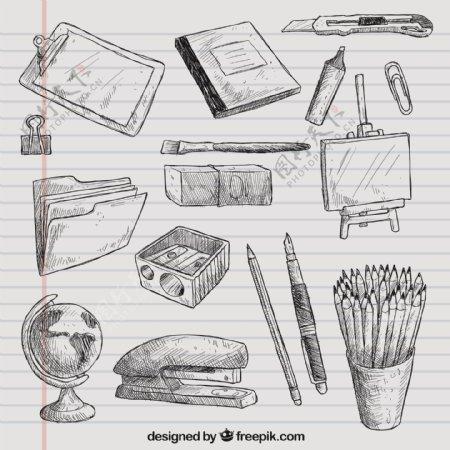 手工绘制学校