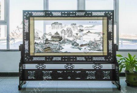 中式大气屏风装饰图片