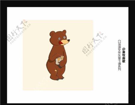 可爱熊CDR矢量图图片