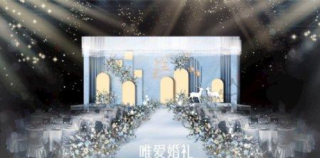 浅蓝色舞台背景图片