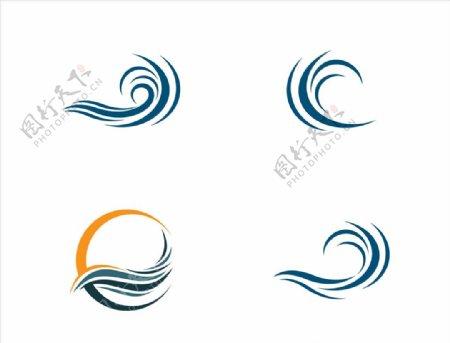 波纹浪花图标图片