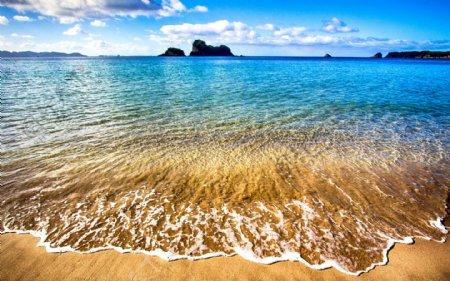 海水沙滩图片