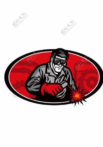 装修工人标识标志图标海报素材图片