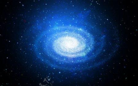 蓝色星空图片
