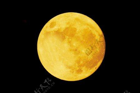 月亮星球中秋黄色背景海报素材图片