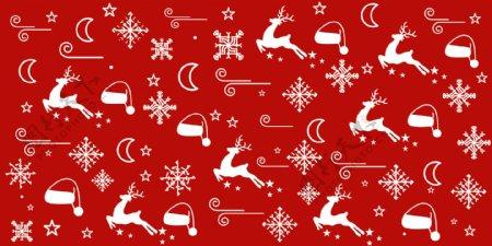圣诞元素印花图案图片
