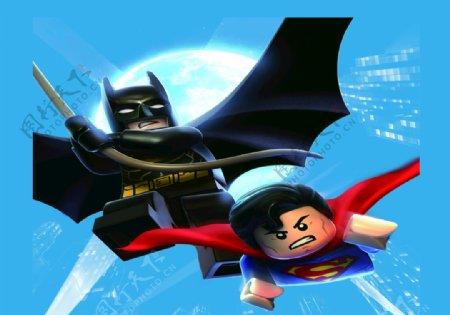 乐高蝙蝠侠超人图片
