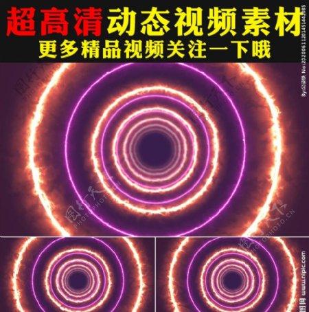 炫酷七彩光线火焰燃烧舞台视频
