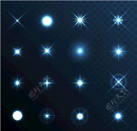 矢量星光图片