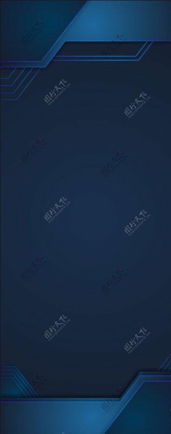 科技感展架设计背景图片