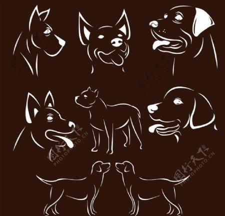 矢量图狗狗素材图片