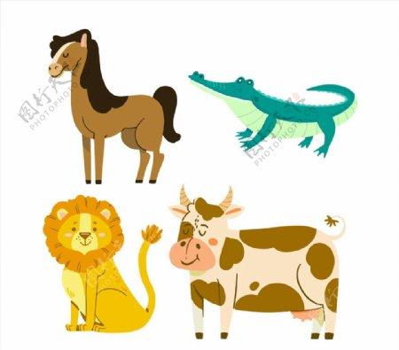 微笑动物矢量图片