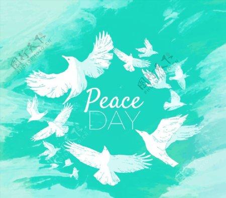 国际和平日白鸽群图片