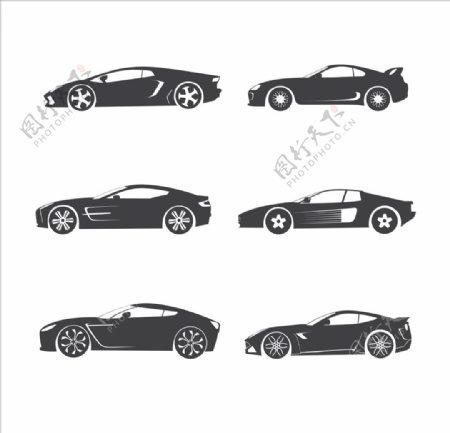矢量汽车图标汽车剪影插画素材图片