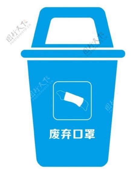 废弃口罩垃圾桶图片