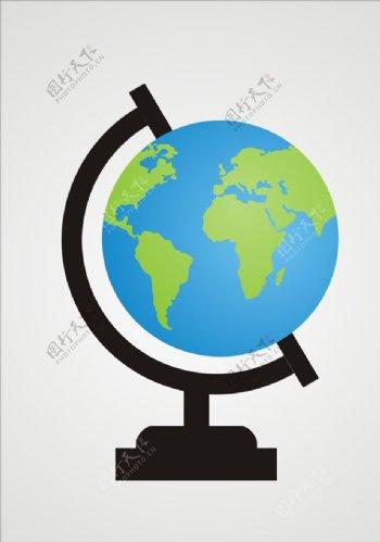 矢量地球仪元素素材图片
