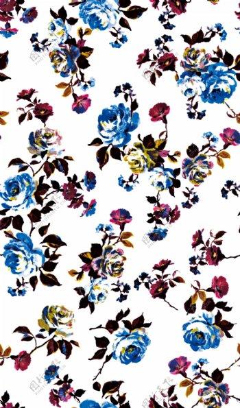 手绘花水彩花卉图片
