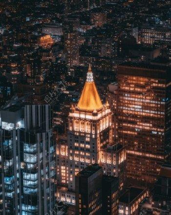 酷炫黑夜城市图片