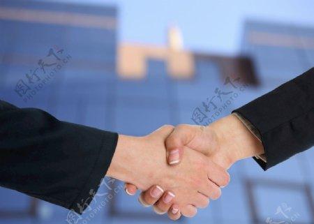 会议握手图片