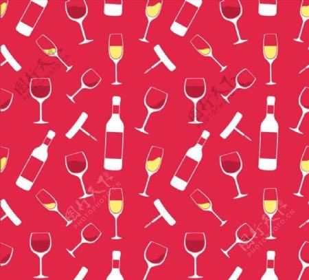 香槟酒和酒杯背景图片