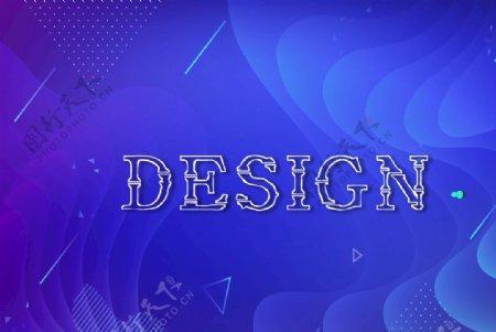 蓝色渐变kv海报背景设计图片