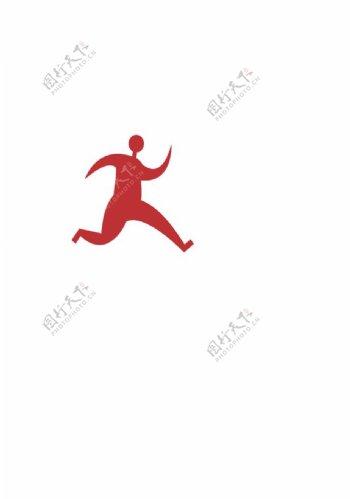 奔跑运动小人图片