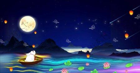 中秋月亮高清视频