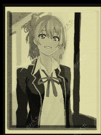 微笑女孩图片