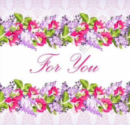 花卉祝福背景图片