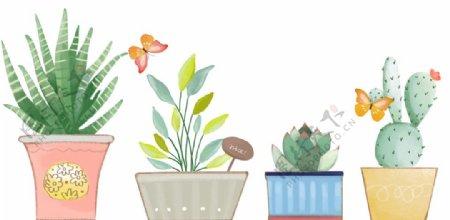 手绘小清新植物花卉元素图片
