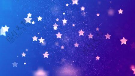 紫色星星梦幻背景图片