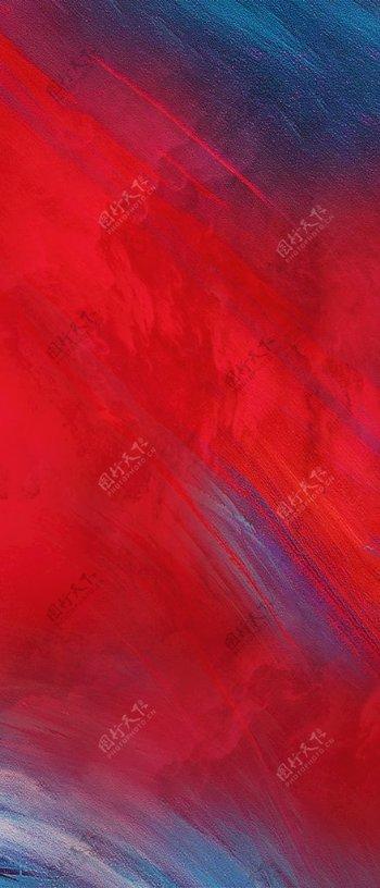 红蓝抽象水墨肌理地产背景图片