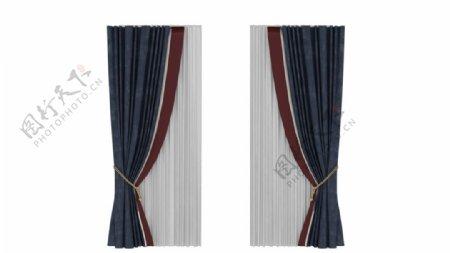 高端窗帘3d模型图片