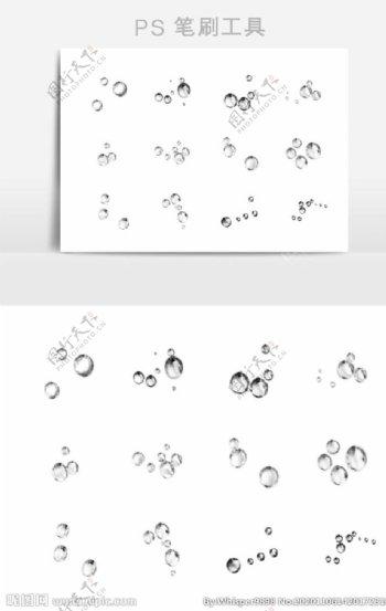 水珠气泡PS笔刷预设图片