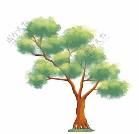 卡通松树元素图片