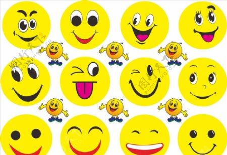 卡通笑脸矢量图图片