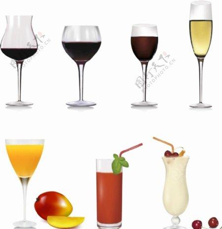 矢量酒杯图片